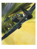Spitfire and Doodle Bug Giclee Print by Wilf Hardy