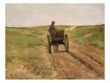 Cart in Katwijk, 1889 Premium Giclee Print by Max Liebermann