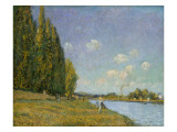The Seine at Billancourt, 1879 Giclee Print by Alfred Sisley