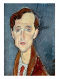 Portrait of Franz Hellens, 1919 Giclee Print by  Modigliani