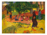 Taperaa Mahana, 1892 Gicledruk van Paul Gauguin