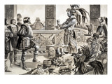 Hernando Cortes in Mexico Premium Giclee Print by Peter Jackson