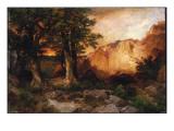 Western Sunset, 1897 Premium Giclee Print by  Moran