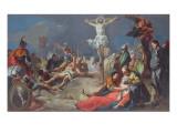 The Crucifixion, 1724-25 Giclee Print by Giovanni Battista Tiepolo