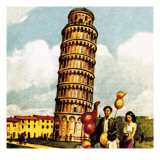 The Leaning Tower of Pisa Giclee Print by English School