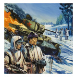 Skirmishes in the Snow Reproduction procédé giclée par Gerry Wood