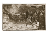 The Funeral of a Viking Giclee Print by Frank Bernard Dicksee