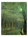 Going Home by Moonlight Premium Giclee Print by  Grimshaw