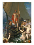 Ulysses and the Sirens Premium Giclee Print by Leon-Auguste-Adolphe Belly