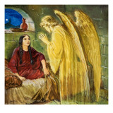 The Angel with Wonderful News Giclee Print by Clive Uptton
