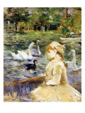 Young Girl Boating, 1884 Giclee Print by  Morisot