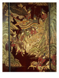 Coromandel Screen, C.1700 Giclee Print by Chinese School 