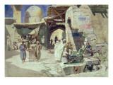 An Arab Street Scene Giclee Print by Carl Friedrich Heinrich Werner