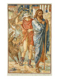 The Strangers in the Village Giclee Print by Walter Crane