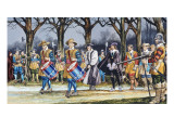 Charles I's Last Walk Giclee Print by Ron Embleton