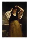 The Red Ribbon, 1869 Giclee Print by William Adolphe Bouguereau