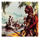 Mungo Park on the River Niger Giclee Print by McConnell