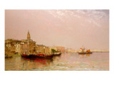 The Bacino from the Grand Canal Giclee Print by Arthur J. Meadows