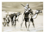 Camels Crossing the Desert Giclee Print by Mcbride