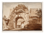 The Arch of Drusus, 1833 Giclee Print by Agostino Tofanelli