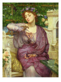 Lesbia and Her Sparrow Giclee Print by Edward John Poynter