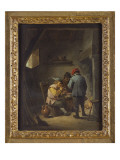 Peasants by an Inn Fire Giclee Print by David Teniers the Younger