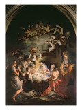 Nativity with St. Jerome Giclee Print by Stefano Maria Legnani