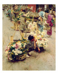 The Flower Market, Tokyo, 1892 Giclee Print by Robert Blum