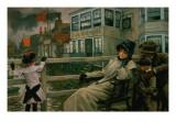 Waiting for the Ferry, C.1878 Reproduction procédé giclée par James Tissot