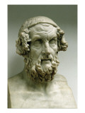 Portrait Bust of Homer Giclee Print by  Greek