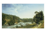 Demesne Weir Near Lucan Giclee Print by Thomas Roberts