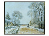 The Road, Snow Effect, 1876 Giclee Print by Alfred Sisley