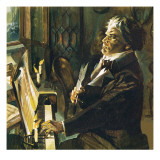 Beethoven at the Piano Giclée-Druck von English School