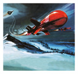 Missile Shot from Jet Reproduction procédé giclée par Gerry Wood