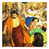 John the Baptist and Salome Giclee Print by Clive Uptton