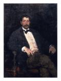 Portrait of Giacomo Puccini Premium Giclee Print by  Veruda