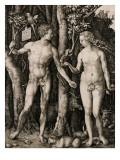 Adam and Eve, 1504 Giclee Print by Albrecht Dürer