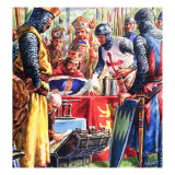 Signing the Magna Carta Giclee Print by C.l. Doughty