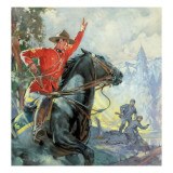 Canadian Mounties Giclee Print by McConnell