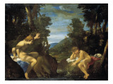 Salmacis and Hermaphroditus Premium Giclee Print by Ludovico Carracci