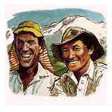 Edmund Hilary and Sherpa Tenzing Giclee Print by English School