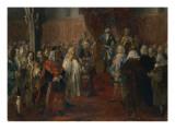 Silesian Homage Scene, 1855 Giclee Print by Adolph von Menzel