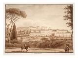 Villa Falconieri, 1833 Giclee Print by Agostino Tofanelli