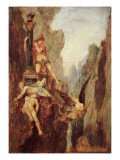 The Sphinx Defeated, C.1878 Giclee Print by  Moreau