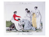 A Game of 'La Main Chaude' Giclee Print by Jean Francois Bosio