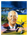Meet 'Mr Helicopter' Giclee Print by Wilf Hardy