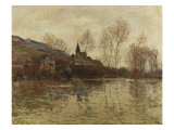 The Flood at Giverny, C.1886 Giclee Print by Claude Monet