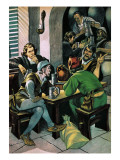 Christopher Columbus Drinking Giclee Print by Ron Embleton