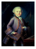 Wolfgang Amadeus Mozart Premium Giclee Print by Pietro Antonio Lorenzoni
