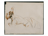 An Elegant Lady Reclining Giclee Print by Paul César Helleu